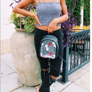 T-Shirt & Jeans Bags - T-SHIRT & JEANS  🆕 Clear Floral Mini Backpack